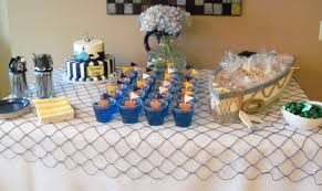 nautical baby shower cake and snack table nautical baby shower