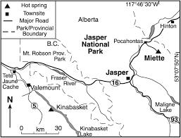 Jasper National Park Canada Map by Microbes And Mineral Precipitation Miette Springs Jasper