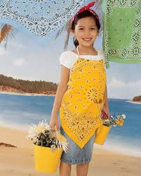 bandanna clothing crafts beachcomber apron and necktie martha