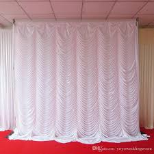 wedding backdrop curtains 2017 3m 3m white color silk swag wedding backdrop curtain for