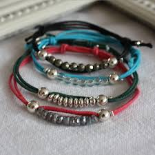 cord bracelet with beads images Colourful cord bracelet with charm or beads by harry rocks jpg