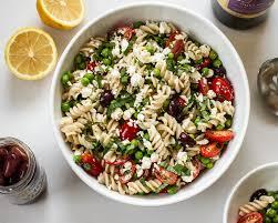 pasta salad with peas feta and basil earthbound farm organic