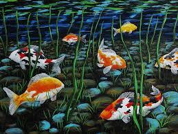 koi pond painting koi pond by katherine young beck