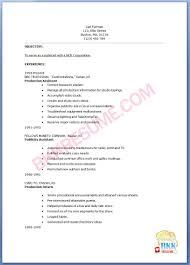 Acting Resume Template No Experience Cover Letter For Acting Resume End
