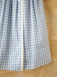 free people vintage gingham shirt dress in blue lyst