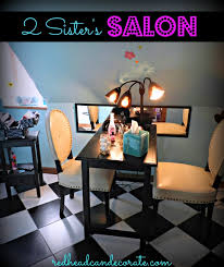 teen salon hang out redhead can decorate
