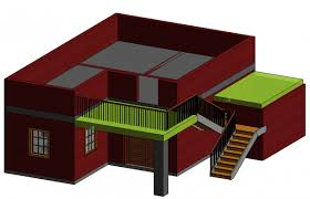 free house projects simple house designed in revit download revit model