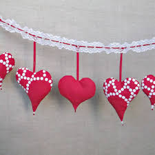 Fabric Heart Decorations Small Christmas Sack Natural Linen And From Madebyinese On Etsy