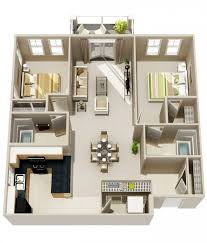 appartement 2 chambres idee plan3d appartement 2chambres 23