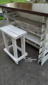 Patio Furniture Made From Pallets by Portable Folding Diy Pallet Bar Great For Weddings Tailgating