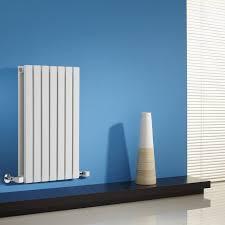 sloane white horizontal double flat panel designer radiator 25