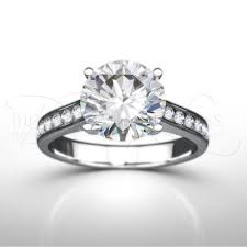 engagement ring uk four claw diamond engagement ring with diamond shoulders
