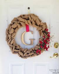 easy diy burlap wreath uplifting mayhem
