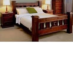 Bed Frame Only Size Rustic Timber Bed Frame Only Ab Fab Furniture Penrith
