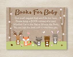 woodland creatures baby shower pink woodland forest animal baby shower book request cards