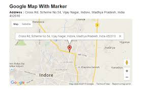 how to use map to display location in contact us page
