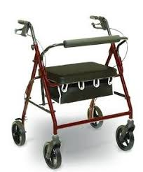 senior walkers with seat 4 wheel rolling walker with shopping basket padded