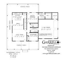 Mountain Cabin Floor Plans Creekstone Cabin Ii House Plans By Garrell Associates Inc