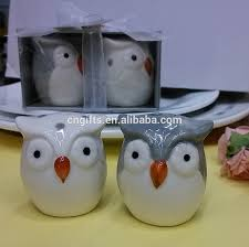 new owl ceramic salt and pepper shakers set kids birthday party