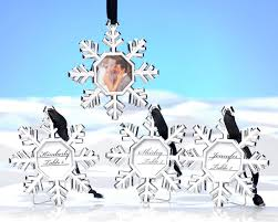snowflake place card holder ornament set of 4