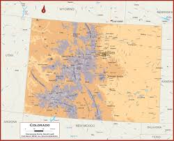 Colorado Maps by Colorado Physical State Map