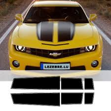chevrolet camaro styles camaro style transformers stripes decals set trunk