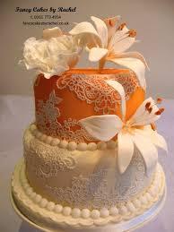 small orange mendhi cake for asian wedding u2013 fancy cakes by rachel