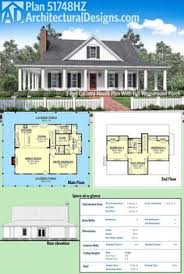 architectural designs home plans plan 51748hz 3 bed country house plan with wraparound porch