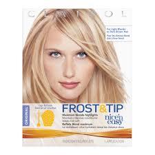 hair frosting for dark hair clairol nice n easy frost tip original hair highlighting kit