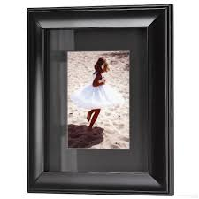 photo albums for 8x10 pictures hudson black matted black wood frame 8x10 5x7 from artcare