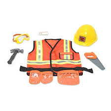 construction worker costume doug construction worker play costume set 6987385