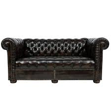 Vintage Chesterfield Leather Sofa Vintage Chesterfield Tufted Leather Sofa Or Loveseat For Sale At
