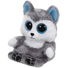 ty beanie boo u0027s peek boo scout husky grey dog smart phone