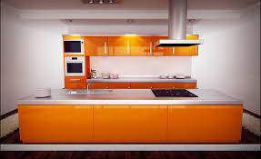 orange and white kitchen ideas colorful kitchens red kitchen cabinets what color walls kitchen