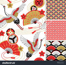 japanese pattern set seamless vector ornaments with traditional