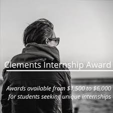 Seeking Awards And Pearle Clements Internship Awards Offered To Students