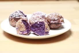 cuisiner patate douce poele bombay bruxelles beignets de patate douces violettes purple