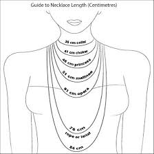 women necklace size images Necklaces sizes la necklace jpg