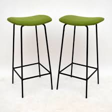 decorating classy white staining iron retro bar stools for