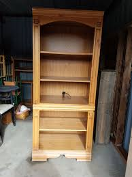 6 foot tall cabinet 2 6 ft tall lighted shelving units one with cabinet one with shelves