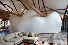 home interiors warehouse sculptural pod transforms a warehouse into a unique home