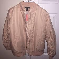 light pink blazer forever 21 25 off forever 21 jackets coats light pink bomber jacket poshmark