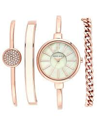 gold ladies bracelet watches images Anne klein women 39 s ak 1470rgst rose gold tone bangle jpg
