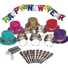 new year supplies colorful new years party supply kit for 10 guests new year s
