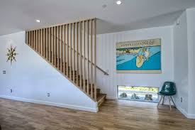 finished basement staircase railings staircase contemporary with