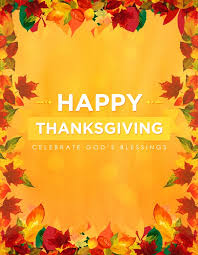 happy thanksgiving blessings church flyer template flyer templates