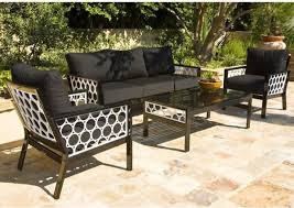 Black And White Outdoor Sofa Lounge Chair And Table Outdoor - White outdoor sofa