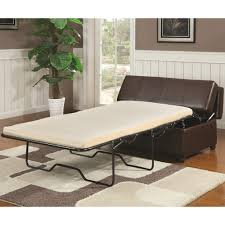 benches brown upholstered bench with fold out sleeper u0026 casters