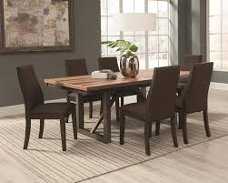 coaster spring creek 7 piece table and side chairs set dunk