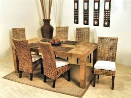 Wicker Dining Room Chairs Indoor Dining Table Barrington Wicker Dining Table And Chairs Awesome